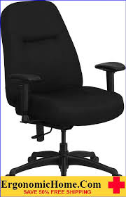 capacity high back big tall black fabric executive swivel office chair with extra wide seat and height adjule arms