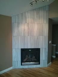 large format porcelain fireplace in kelowna