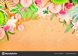 Festive Background Tropical Theme Summer Hawaii Party
