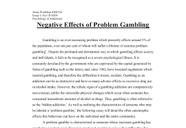 negative effects of problem gambling a level psychology marked  document image preview