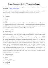 an essay on terrorism essay of terrorism