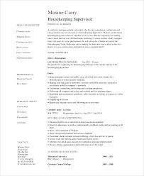 Housekeeping Resume Examples Resume Examples Housekeeping