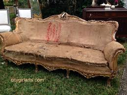 Old Sofa Fortuitous Find The French Baroque Sofa City Girl Arts