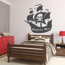customvinyldecor pirate ship wall decal