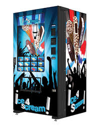 Used Ice Vending Machine For Sale New FastCorp Evolution Ice Cream Machine AM Vending Machine Sales