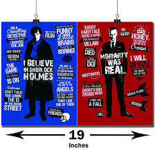Happy Giftmart Sherlock Moriarty And Sherlock Holmes Quotes Poster