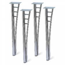 dining table legs. chrome dining table legs