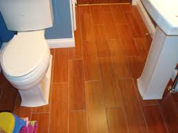 image of cork flooring in basement bathroom
