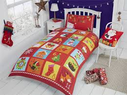 Christmas Kids Quilt Duvet Cover Bedding Bed Sets 5 Sizes Festive ... & Christmas-Kids-Quilt-Duvet-Cover-Bedding-Bed-Sets- Adamdwight.com