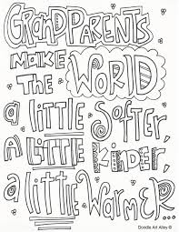 Grandparents Day Coloring Pages Doodle Art Alley