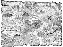 Treasure Map Coloring Pages 53 With Treasure Map Coloring Pages
