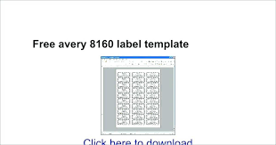 Avery Label 8160 Avery Labels 8160 Unique Return Address Label Template For Mac