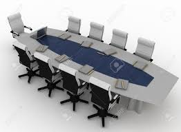 conference table with empty chairs for modern office stock photo