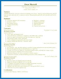 Warehouse Associate Job Description Delectable Free Sample Resume For Warehouse Worker Position Mmventuresco