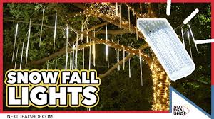 Lights That Look Like Snow Falling Just Like Real Falling Snow Led Snow Fall Lights Nextdealshop