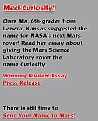 the rover meet curiosity clara ma a 6th grader from lenexa kansas suggested the