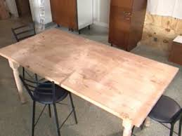 reclaimed wood used to build farmhouse table