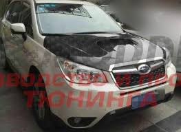<b>Карбоновый капот</b> с <b>воздухозаборником</b> на Subaru Forester SJ ...