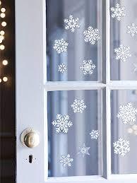 30x Fensterbilder Set Fensterdeko Schneeflocken Design Für Winter Und Weihnachten Filz Selbstklebend 36 Aufkleber Economy