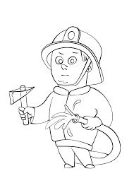 Kleurplaat Brandweer Oa Brandweerman Brandweerauto