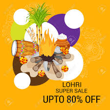 Happy Lohri Discount Banner Pattern ...