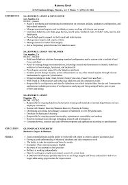 Download Salesforce Admin Resume Sample as Image file