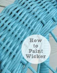 how to re painting wicker cane