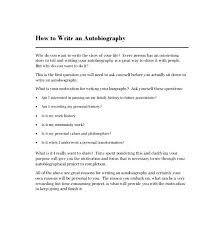 An Autobiography Chapter Outline Template Example Free Writing A
