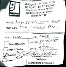 salvation army donation receipt template goodwill form tax clothing record