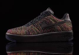 nike air force 1 low flyknit black multicolor air force 1 flyknit