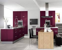 Black High Gloss Kitchen Doors Kitchen Modern Purple Kitchen Furniture Cabinet Sets Astonishing
