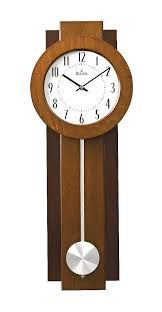 bulova wall pendulum clock two tone walnut and mahogany finish avent c3383