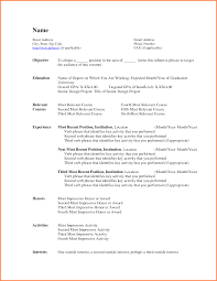 9 Ms Word Professional Resume Template Resume Cover Note