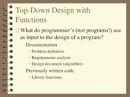 Top Down Design Definition Ppt Top Down Design With Functions Powerpoint Presentation
