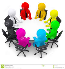 round table discussion clipart