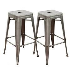 Cool Backless Counter Height Bar Stools Plus Abbie Home 30 Inch Metal Stools  Set Of To