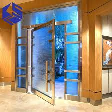 steel entry doors with glass luxury double leaf door glass front entry door stainless steel door steel entry doors with glass