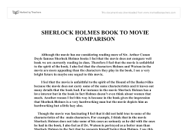 sherlock holmes movie review gcse english marked by teachers com document image preview