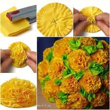 Make Tissue Paper Flower Balls How To Diy Easiest Tissue Paper Flower Ball