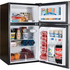 haier mini refrigerator. amazon.com: haier 3.2 cu ft refrigerator, stainless steel 2-door for dorm, garage, camper, gameroom, basement or office with separate freezer compartment mini refrigerator