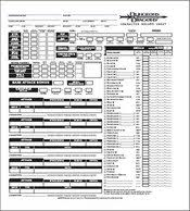 dnd 3 5 character sheet dungeons and dragons cthulhuwiki