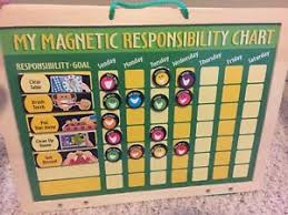 Details About Melissa Doug Magnetic Responsibility Chore Chart Dry Erase Board