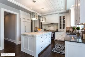 black and white kitchen with thick calacatta marble countertop pertaining to thickness ideas 12