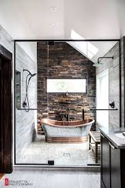 modern rustic bathrooms.  Rustic Magda Of Euro Style Interior Design Based In Chicago Sent Along Some Photos  A Bathroom Design She Recently Completed And It Is Stunning Intended Modern Rustic Bathrooms U