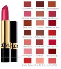Revlon Super Lustrous Lipstick Colour Chart Revlon Lipstick Chart Revlon Lipstick Revlon Lipstick