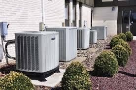 air conditioning unit. air-conditioning units outside an office building. air conditioning unit