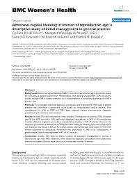 Vaginal bleeding in elderly women