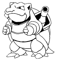 Small Picture Coloring Pages Pokemon Blastoise Drawings Pokemon