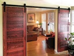 8ft 10ft 12ft 13ft basic style double sliding barn wood door closet door hardware for reference