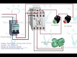 single phase motor contactor wiring diagram in urdu & hindi youtube contactor wiring diagram single phase at Contactor And Overload Wiring Diagram